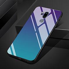 Coque Rebord Contour Silicone et Vitre Miroir Housse Etui Degrade Arc en Ciel pour LG G7 Mixte
