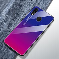 Coque Rebord Contour Silicone et Vitre Miroir Housse Etui Degrade Arc en Ciel pour Samsung Galaxy A40 Mixte