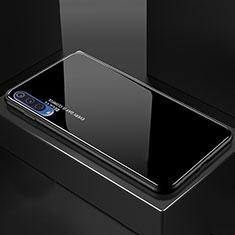 Coque Rebord Contour Silicone et Vitre Miroir Housse Etui Degrade Arc en Ciel pour Xiaomi Mi A3 Lite Noir