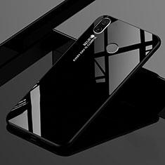 Coque Rebord Contour Silicone et Vitre Miroir Housse Etui Degrade Arc en Ciel pour Xiaomi Redmi 7 Noir