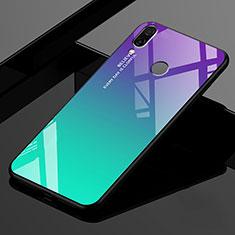 Coque Rebord Contour Silicone et Vitre Miroir Housse Etui Degrade Arc en Ciel pour Xiaomi Redmi 7 Vert