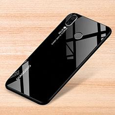 Coque Rebord Contour Silicone et Vitre Miroir Housse Etui Degrade Arc en Ciel pour Xiaomi Redmi Note 7 Pro Noir