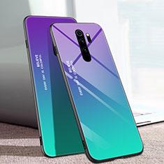 Coque Rebord Contour Silicone et Vitre Miroir Housse Etui Degrade Arc en Ciel pour Xiaomi Redmi Note 8 Pro Mixte