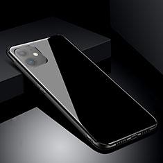 Coque Rebord Contour Silicone et Vitre Miroir Housse Etui M01 pour Apple iPhone 11 Noir