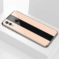 Coque Rebord Contour Silicone et Vitre Miroir Housse Etui M01 pour Huawei Enjoy Max Or