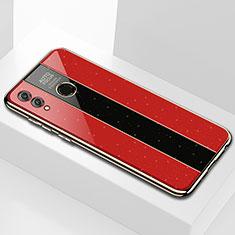 Coque Rebord Contour Silicone et Vitre Miroir Housse Etui M01 pour Huawei Enjoy Max Rouge