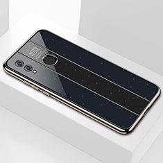 Coque Rebord Contour Silicone et Vitre Miroir Housse Etui M01 pour Huawei Honor 10 Lite Noir