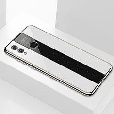 Coque Rebord Contour Silicone et Vitre Miroir Housse Etui M01 pour Huawei Honor 8X Max Blanc