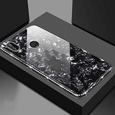 Coque Rebord Contour Silicone et Vitre Miroir Housse Etui M01 pour Huawei Honor 8X Noir