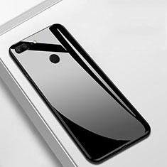 Coque Rebord Contour Silicone et Vitre Miroir Housse Etui M01 pour Huawei Honor 9 Lite Noir