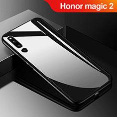 Coque Rebord Contour Silicone et Vitre Miroir Housse Etui M01 pour Huawei Honor Magic 2 Noir