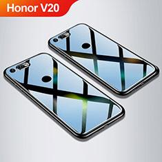 Coque Rebord Contour Silicone et Vitre Miroir Housse Etui M01 pour Huawei Honor V20 Noir