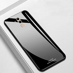 Coque Rebord Contour Silicone et Vitre Miroir Housse Etui M01 pour Huawei Mate 20 Lite Noir