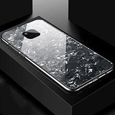 Coque Rebord Contour Silicone et Vitre Miroir Housse Etui M01 pour Huawei Mate 20 Pro Noir