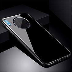Coque Rebord Contour Silicone et Vitre Miroir Housse Etui M01 pour Huawei Mate 30 Noir