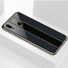 Coque Rebord Contour Silicone et Vitre Miroir Housse Etui M01 pour Huawei P Smart (2019) Noir