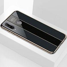 Coque Rebord Contour Silicone et Vitre Miroir Housse Etui M01 pour Huawei P30 Lite Noir
