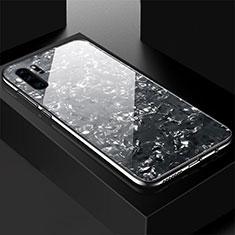 Coque Rebord Contour Silicone et Vitre Miroir Housse Etui M01 pour Huawei P30 Pro Noir