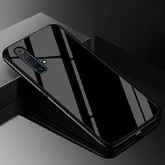 Coque Rebord Contour Silicone et Vitre Miroir Housse Etui M01 pour Realme X50m 5G Noir
