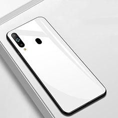 Coque Rebord Contour Silicone et Vitre Miroir Housse Etui M01 pour Samsung Galaxy A8s SM-G8870 Blanc