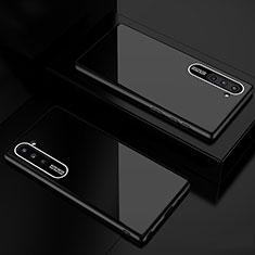 Coque Rebord Contour Silicone et Vitre Miroir Housse Etui M01 pour Samsung Galaxy Note 10 Noir