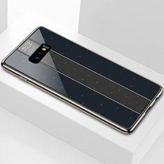Coque Rebord Contour Silicone et Vitre Miroir Housse Etui M01 pour Samsung Galaxy S10e Noir