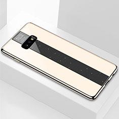 Coque Rebord Contour Silicone et Vitre Miroir Housse Etui M01 pour Samsung Galaxy S10e Or