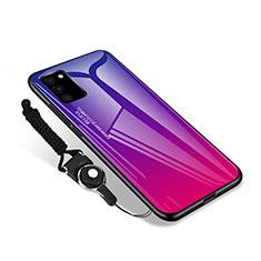 Coque Rebord Contour Silicone et Vitre Miroir Housse Etui M01 pour Samsung Galaxy S20 FE 4G Rose Rouge