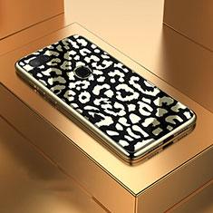 Coque Rebord Contour Silicone et Vitre Miroir Housse Etui M01 pour Xiaomi Mi 8 Lite Noir