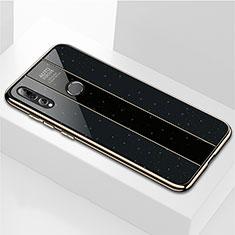 Coque Rebord Contour Silicone et Vitre Miroir Housse Etui M02 pour Huawei Enjoy 9s Noir