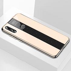 Coque Rebord Contour Silicone et Vitre Miroir Housse Etui M02 pour Huawei Enjoy 9s Or