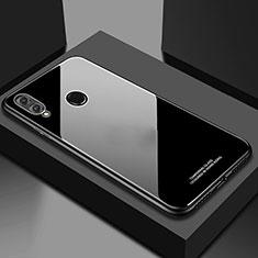 Coque Rebord Contour Silicone et Vitre Miroir Housse Etui M02 pour Huawei Honor 10 Lite Noir