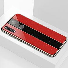 Coque Rebord Contour Silicone et Vitre Miroir Housse Etui M02 pour Huawei Honor 20 Lite Rouge