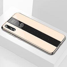 Coque Rebord Contour Silicone et Vitre Miroir Housse Etui M02 pour Huawei Honor 20i Or
