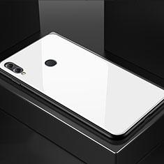 Coque Rebord Contour Silicone et Vitre Miroir Housse Etui M02 pour Huawei Honor 8X Blanc