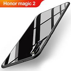 Coque Rebord Contour Silicone et Vitre Miroir Housse Etui M02 pour Huawei Honor Magic 2 Noir