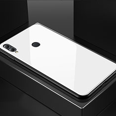 Coque Rebord Contour Silicone et Vitre Miroir Housse Etui M02 pour Huawei Honor V10 Lite Blanc