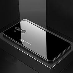 Coque Rebord Contour Silicone et Vitre Miroir Housse Etui M02 pour Huawei Mate 20 Lite Noir