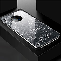 Coque Rebord Contour Silicone et Vitre Miroir Housse Etui M02 pour Huawei Mate 30 5G Noir