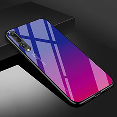 Coque Rebord Contour Silicone et Vitre Miroir Housse Etui M02 pour Huawei P20 Pro Rose Rouge