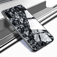 Coque Rebord Contour Silicone et Vitre Miroir Housse Etui M02 pour Huawei P30 Noir