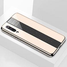 Coque Rebord Contour Silicone et Vitre Miroir Housse Etui M02 pour Xiaomi Mi 9 Pro 5G Or