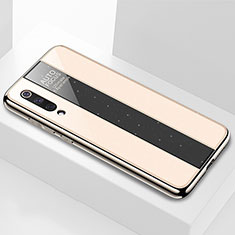Coque Rebord Contour Silicone et Vitre Miroir Housse Etui M02 pour Xiaomi Mi A3 Lite Or