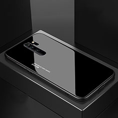 Coque Rebord Contour Silicone et Vitre Miroir Housse Etui M02 pour Xiaomi Redmi Note 8 Pro Noir
