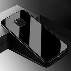 Coque Rebord Contour Silicone et Vitre Miroir Housse Etui M03 pour Huawei Mate 20 Pro Noir