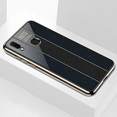 Coque Rebord Contour Silicone et Vitre Miroir Housse Etui M03 pour Huawei Nova 3e Noir