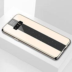 Coque Rebord Contour Silicone et Vitre Miroir Housse Etui M03 pour Samsung Galaxy Note 8 Duos N950F Or