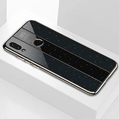 Coque Rebord Contour Silicone et Vitre Miroir Housse Etui M03 pour Xiaomi Redmi Note 7 Noir