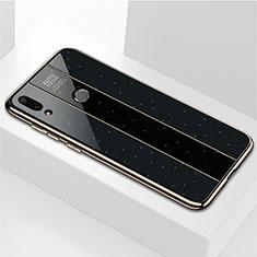 Coque Rebord Contour Silicone et Vitre Miroir Housse Etui M04 pour Huawei Enjoy 9 Plus Noir