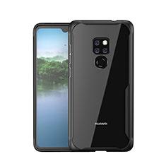 Coque Rebord Contour Silicone et Vitre Miroir Housse Etui M05 pour Huawei Mate 20 Noir